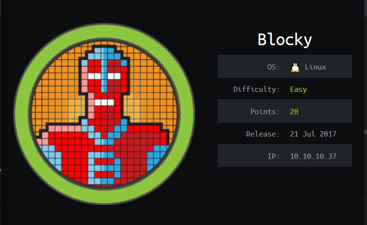 Blocky HTB Info Card