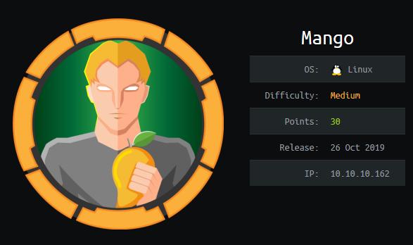 Mango HTB Info card