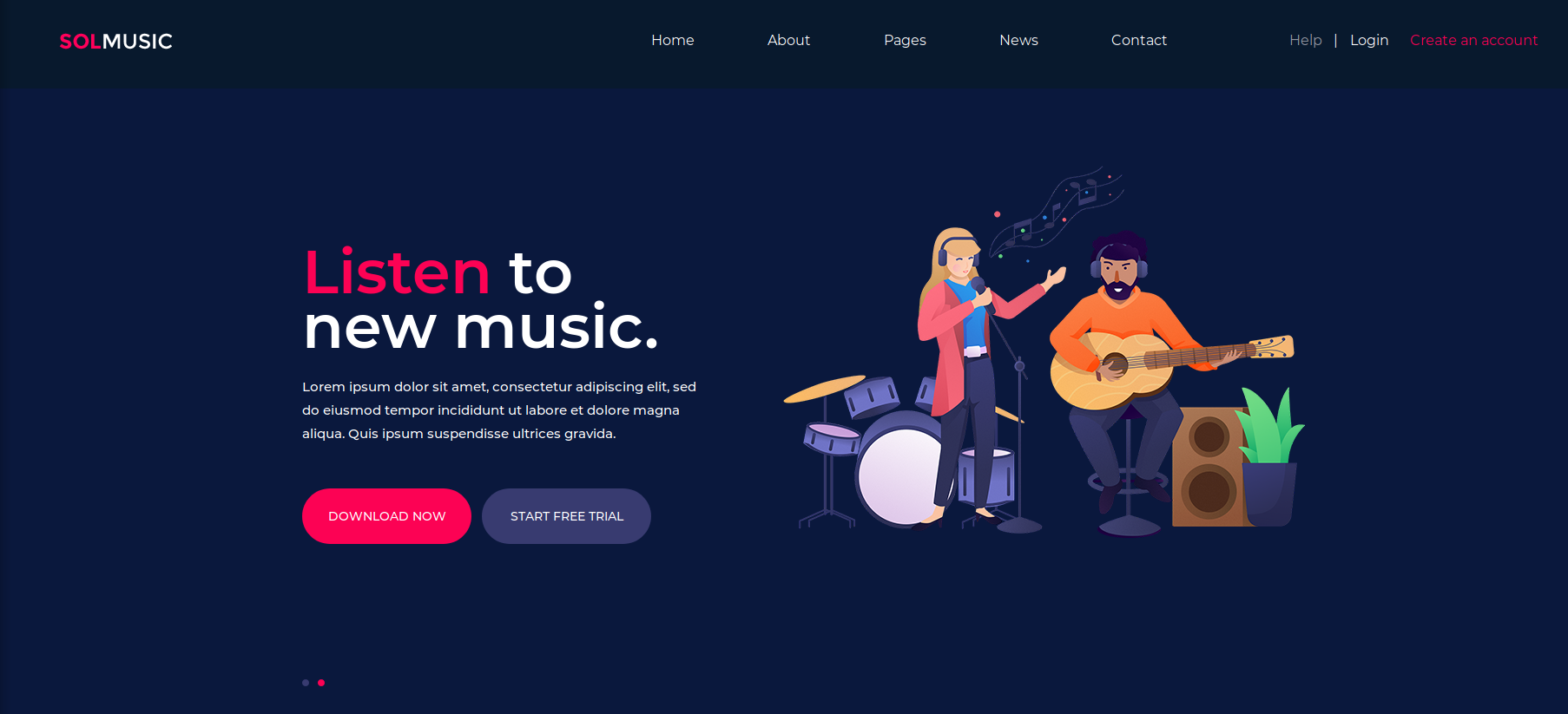 Music page on 'OpenAdmin'