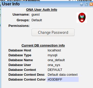 ONA user info