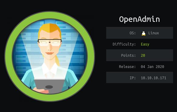 OpenAdmin HTB Info Card